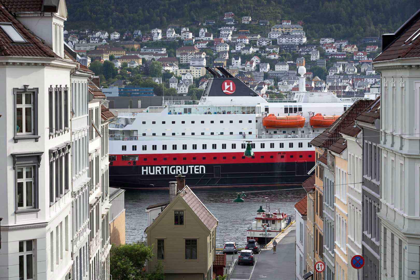 Bergen, Hurtigruten, Norwegen