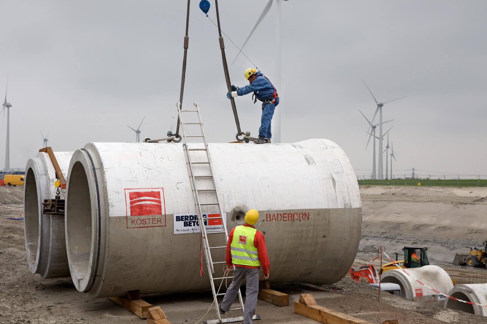 Kühlungsrohre Kraftwerk Eemshaven Niederlande