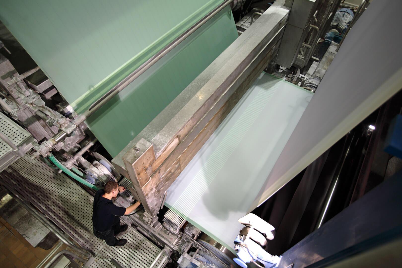 Werk Burg Gretesch - Papiermaschine