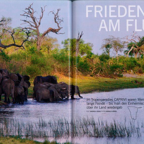 Merian Magazin Namibia, Reportage Caprivi
