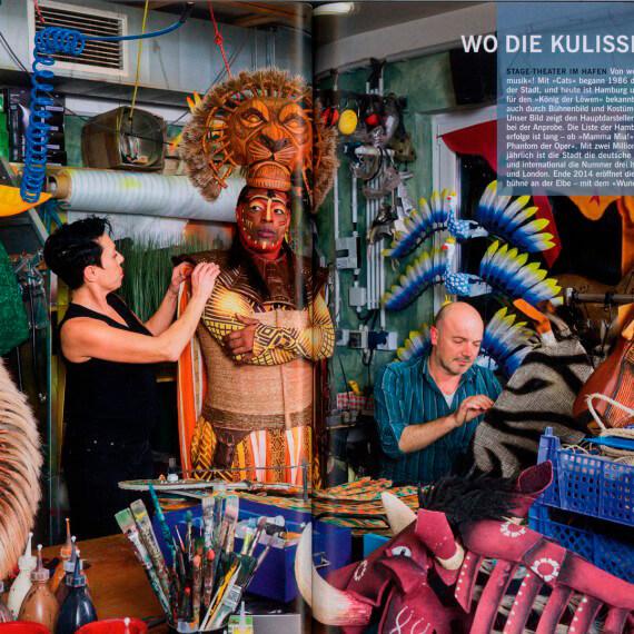 Merian Magazin Hamburg, hinter den Kulissen des Musicals König der Löwen
