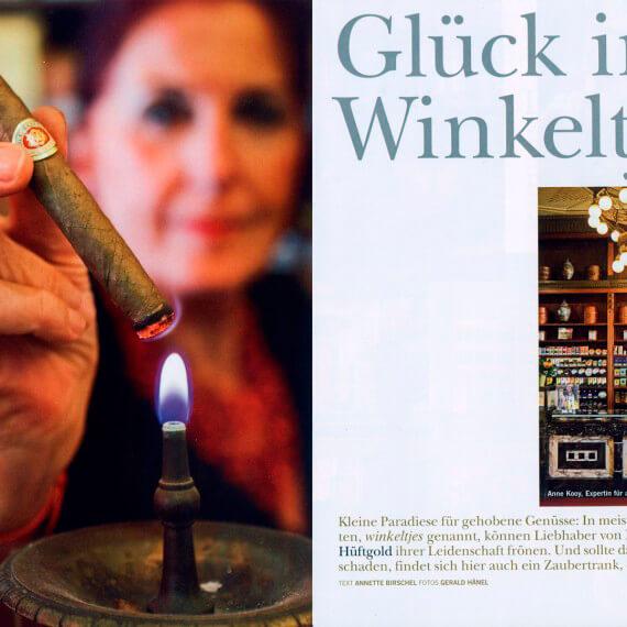 Merian Magazin Amsterdam, Reportage Winkeltjes