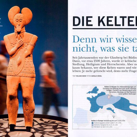 Merian Magazin Hessen, Reportage Keltenmuseum Glauberg